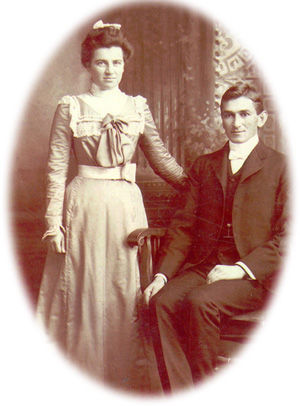 John Mentzer Martin and his wife Lydia, married in 1900.
